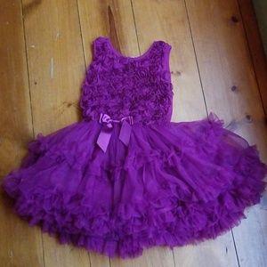 LIKE NEW Popatu Ruffle Rosette Party Dress 6X 7
